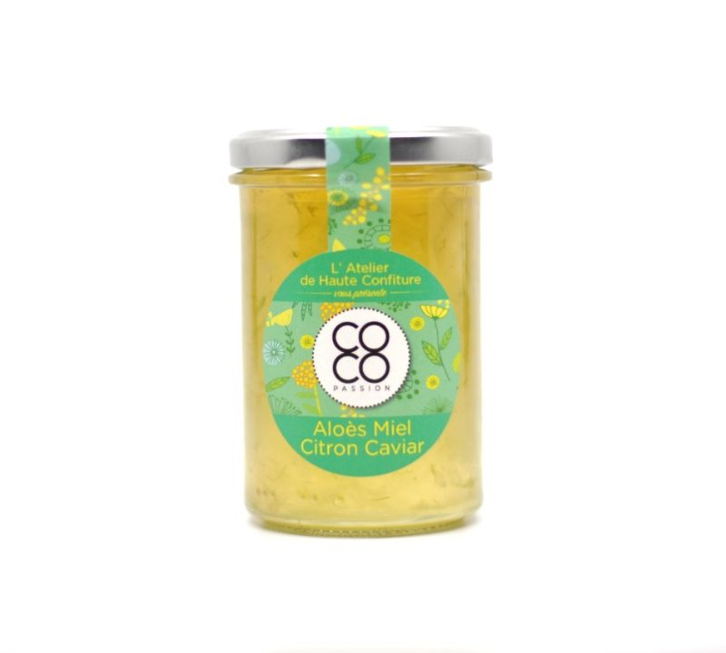 Spécialité artisanale : Aloes, miel et citron Caviar
