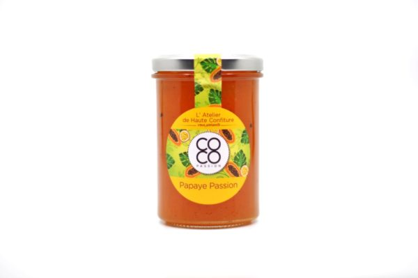 confiture artisanale papaye fruit de la passion la reunion