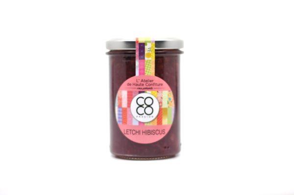confiture artisanale la reunion letchi hibiscus
