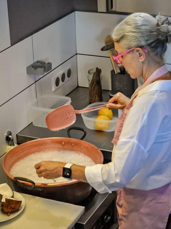 confiture artisanale la reunion cuisson chaudron